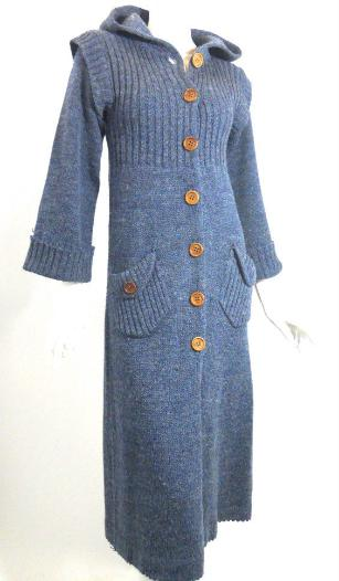 Dorothea's Closet Vintage clothing, 70s sweater, 70s duster