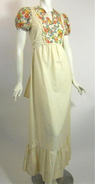White peasant dress long