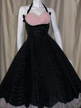 50's party dress black pink Emma Domb