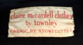 50's CLAIRE MCCARDELL by TOWNLEY label