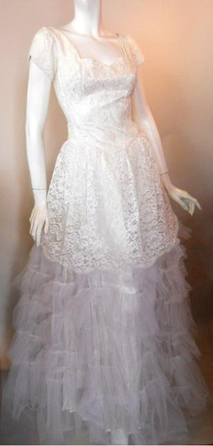 50s wedding gown vintage wedding gown