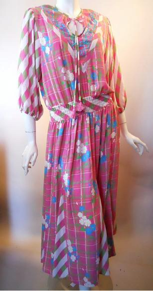 80s dress diane freis dress