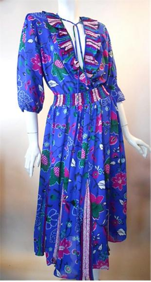 diane freis style dress 80s dress vintage clothing