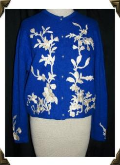 vintage cashmere 50's sweater HELEN BOND CARRUTHERS