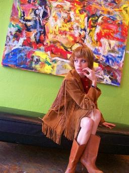 70s suede fringed jacket