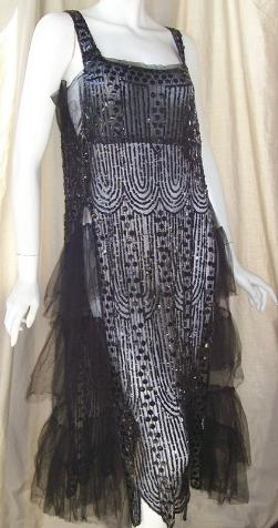20s dress beaded dress flapper dress